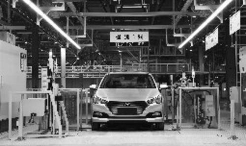 北京现代沧州工厂总装车间检测线
