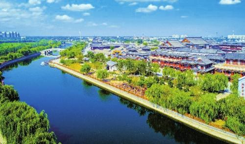 京杭大运河西青段。天津市西青区委宣传部/供图